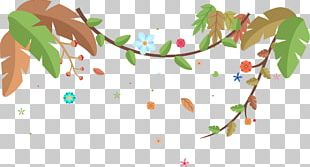 Decorative Floral Vine Pattern PNG
