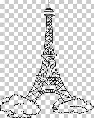 Eiffel Tower Passerelle Debilly Stencil Drawing PNG