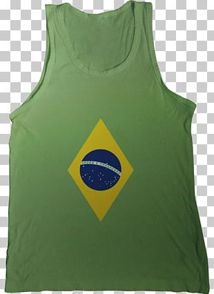 Flag Of Brazil T-shirt Gilets Green PNG