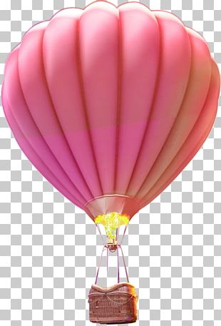 Hot Air Balloon Flight Purple PNG