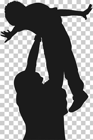 Silhouette Father PNG