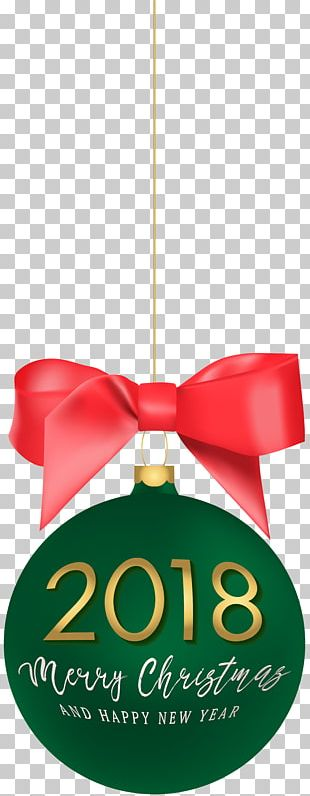 2018 Happy New Year Christmas Ball PNG