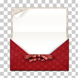 Paper Christmas Ribbon Envelope PNG