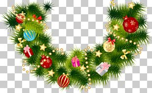 Christmas Garland Wreath PNG