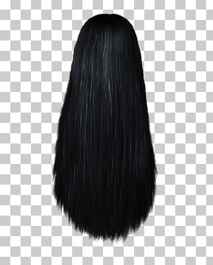 Human Hair Color Black Hair Long Hair Wig PNG