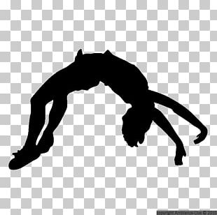 Silhouette Cheerleading Tumbling Gymnastics PNG