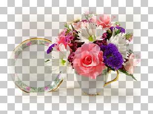 Floral Design Teacup Flower Bouquet Cut Flowers PNG