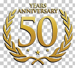 50 Years Anniversary Laurel PNG