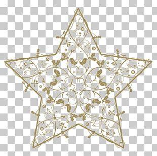 Symmetry Christmas Ornament Line Pattern PNG