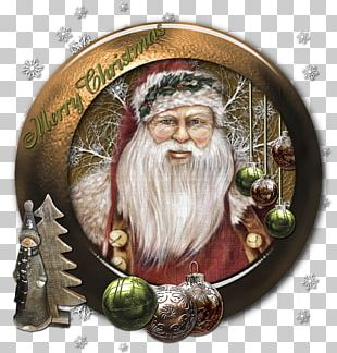 Santa Claus Christmas Ornament PNG