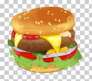 Hamburger Cheeseburger Breakfast Sandwich Veggie Burger Fast Food PNG