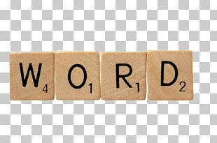 Scrabble Word PNG