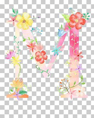 Letter Flower M Poster PNG