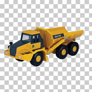 John Deere Car Dump Truck Articulated Hauler Ertl Company PNG