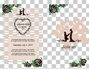 Wedding Invitation Ornament Poster PNG