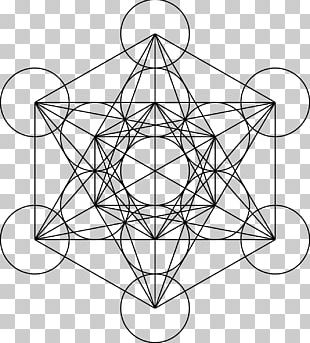 Metatron's Cube Sacred Geometry Overlapping Circles Grid PNG