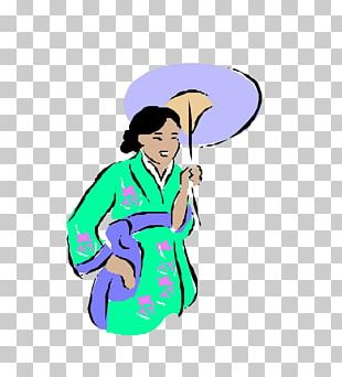 Japan Geisha Woman Illustration PNG