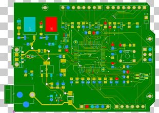 Electrical Network Printed Circuit Board Electronics Microcontroller Electronic Circuit PNG