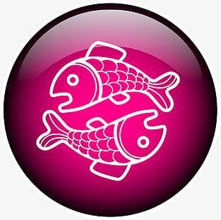 Purple Line Pisces PNG