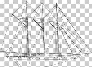 Sail Schooner Mast Rigging Yacht PNG