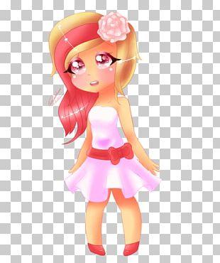 Brown Hair Pink M RTV Pink Character Barbie PNG
