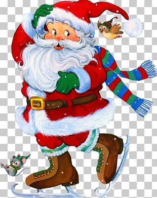 Rudolph Santa Claus Christmas New Year PNG