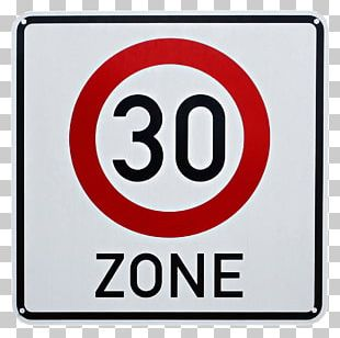30 Km/h Zone Traffic Sign Speed Limit Speed Sign Stock Photography PNG