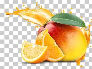 Orange Juice Organic Food Mango Fruit PNG