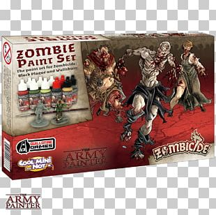 Galápagos Jogos Cool Mini Or Not Zombicide Expansão Black Plague Black Death Paint Game PNG