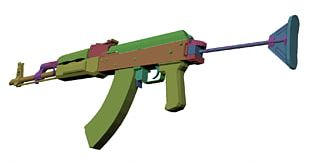 Graphics Cards & Video Adapters Polycount Maadi Firearm AK-47 PNG