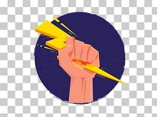 Zeus Thunderbolt Hand Illustration PNG