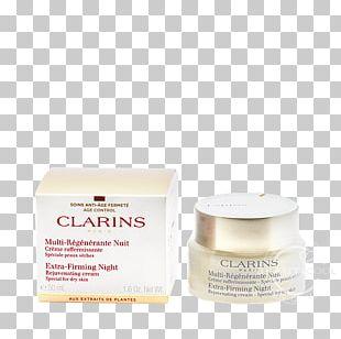 Clarins Extra-Firming Night Rejuvenating Cream Skin Xeroderma PNG