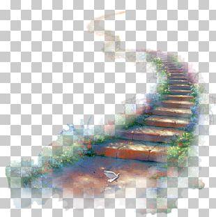 Watercolor Painting Stairway To Heaven Organism PNG