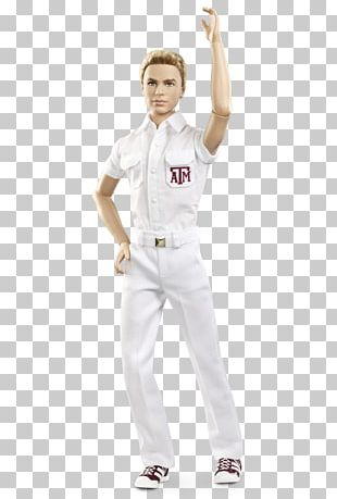 Texas A&M University Ken Barbie Aggie Yell Leaders Doll PNG