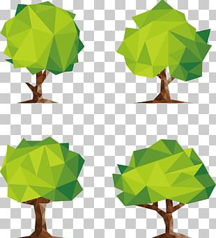 Polygon Low Poly Tree PNG
