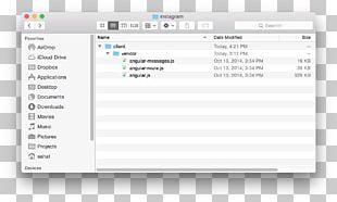 Finder MacOS OS X El Capitan Hidden File And Hidden Directory PNG