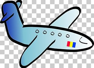 Airplane Aircraft Black And White Cartoon PNG