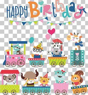 Cartoon Birthday Illustration PNG