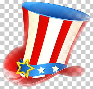 Happy Fourth Of July Uncle Sam Tophat PNG