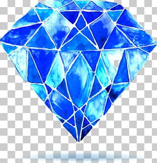 Watercolor Painting Diamond Stock Photography PNG