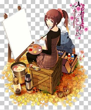Artist Painting Anime Drawing PNG