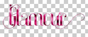 Logo Glamour Make-up Artist Magazine PNG