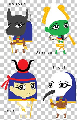 Ancient Egyptian Deities Osiris Isis PNG
