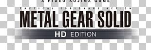 Metal Gear Solid HD Collection Xbox 360 Logo Brand Game PNG