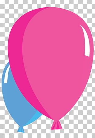 Balloon Blue Pink PNG