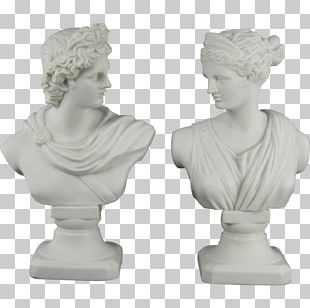Bust Apollo Marble Sculpture Statue PNG