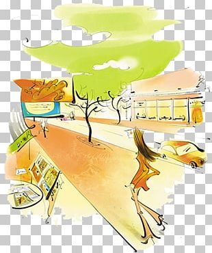 Cartoon Watercolor Painting Illustration PNG