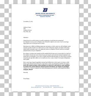 Letterhead Business Letter Paper Boise State University PNG