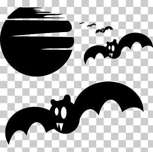 Bat Halloween Silhouette PNG