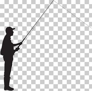 Silhouette Fisherman Fishing PNG